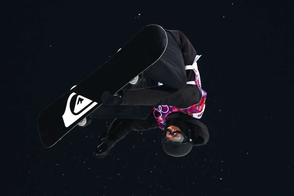 Iouri Podladtchikov of Switzerland competes in the Snowboard Men's Halfpipe Finals at the Sochi 2014 Winter Olympics. He won the event. (Cameron Spencer/Getty Images)