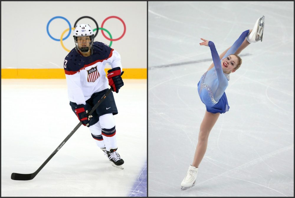 "The skater on the left, ice hockey star Julie Chu, is a ""woman,"" while the skater on the right, figure skater Gracie Gold, is a ""lady."" Why the difference? (Bruce Bennett and Robert Cianflone/Getty Images)"