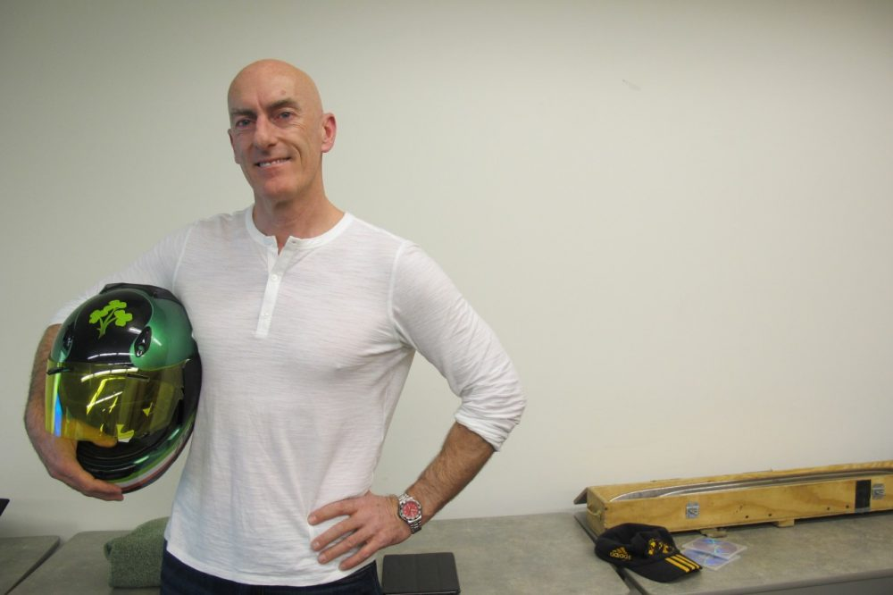 Pete Donohoe came ready to share his love of bobsledding. (Zoë Sobel/Only A Game)