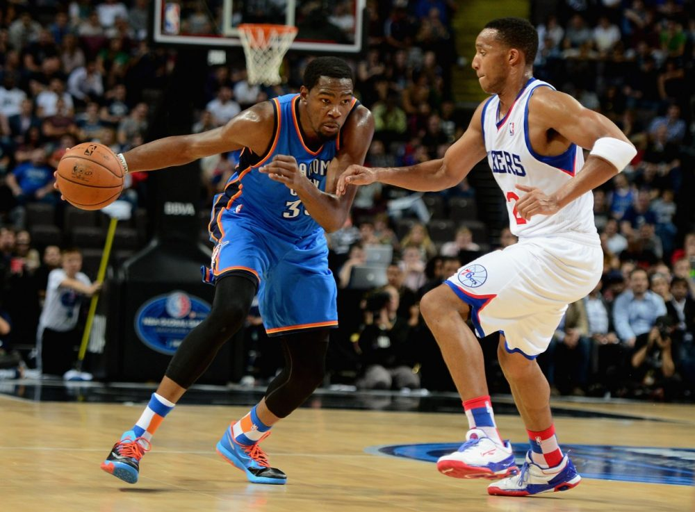 At the All-Star break, Kevin Durant is averaging an NBA-best 31.5 points per game. (Jamie McDonald/Getty Images)