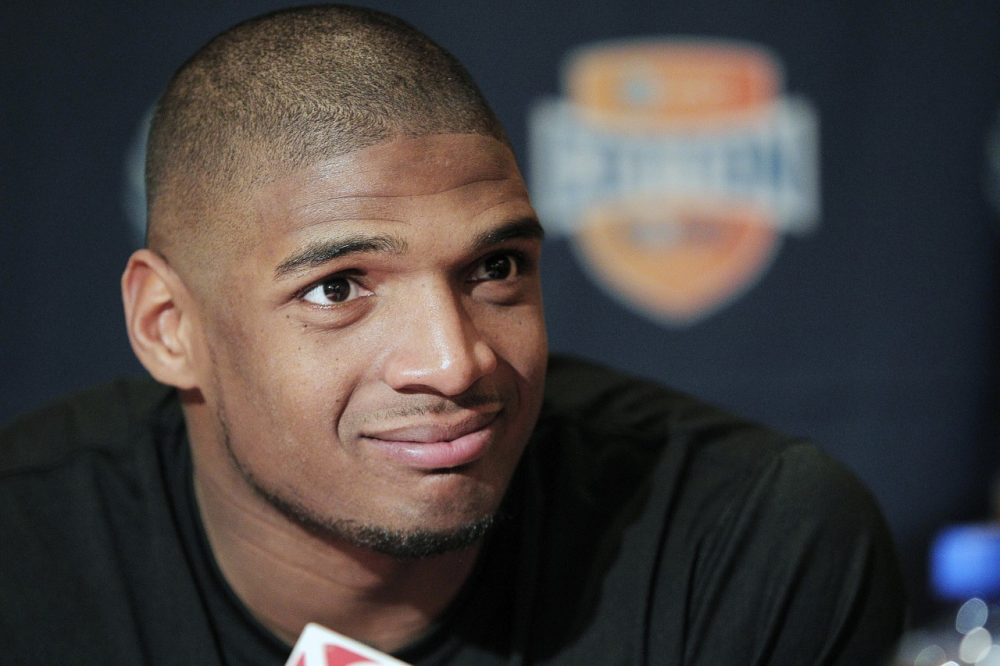 Michael Sam has now been cut by two NFL teams and has yet to make a regular-season roster. (Brandon Wade/AP)