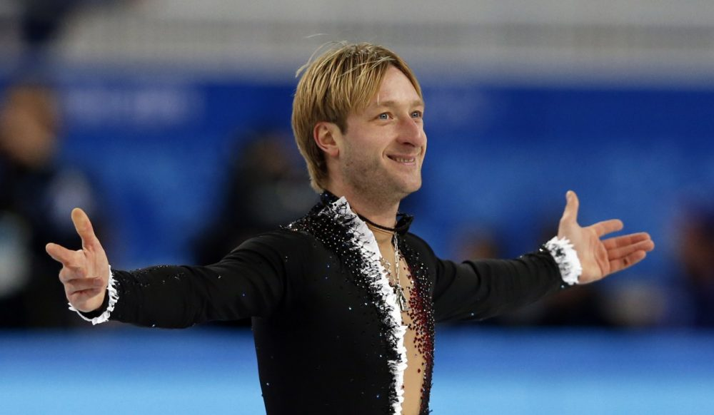 Russia's Yevgeny Plushenko ended his career at home, but not before he helped his team to a gold medal in the team event. (ADRIAN DENNIS/AFP/Getty Images)