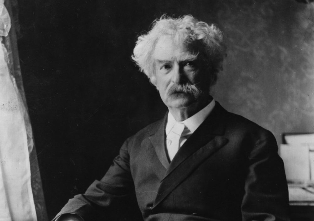 Circa 1895: Samuel Langhorne Clemens (1835 - 1910) the novelist, who wrote under the pen name of Mark Twain. (Ernest H. Mills/Getty Images)