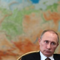 Russia's President Vladimir Putin attends a meeting in his Novo-Ogaryovo residence outside Moscow, on February 18, 2014 . (Mikhail Metzel/AFP/Getty Images)