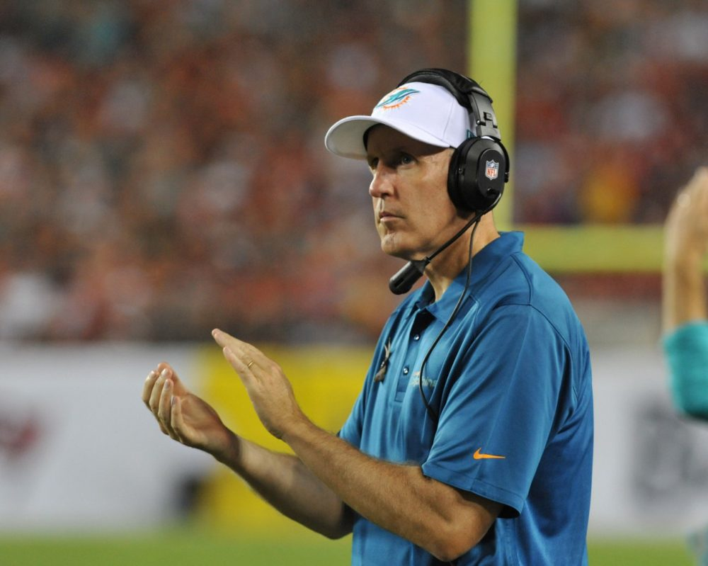 Is Dolphins Coach Joe Philbin's job in danger because of the Dolphins scandal? (Al Messerschmidt/Getty Images)