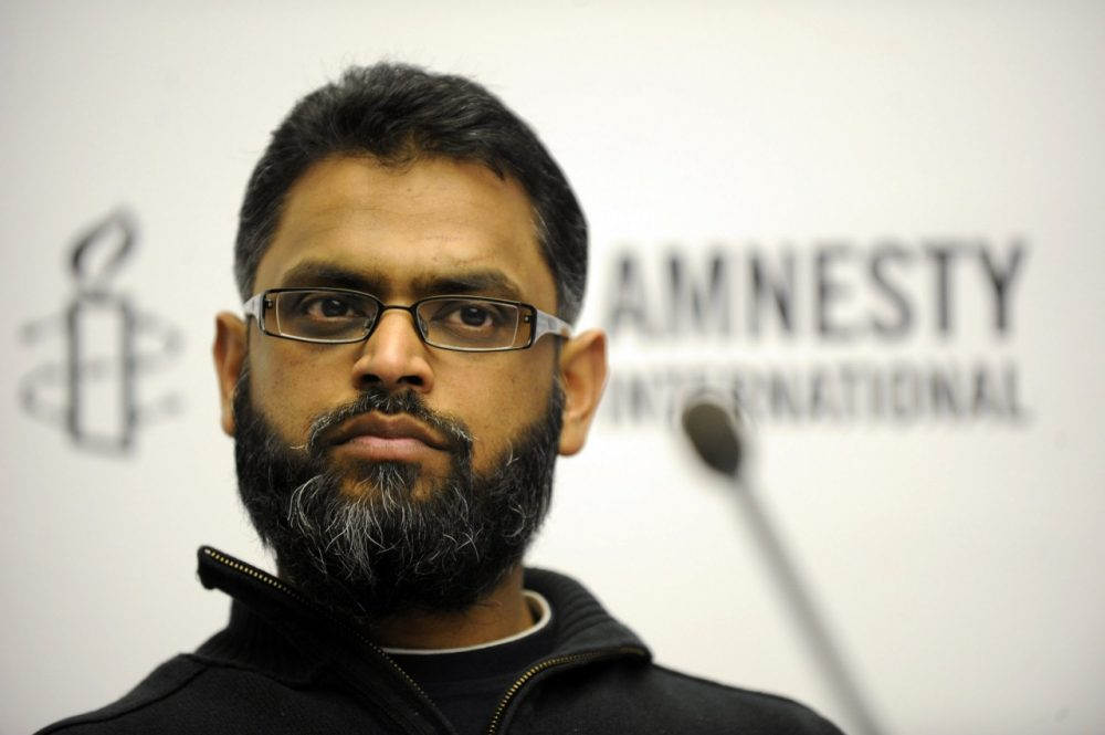 Moazzam Begg speaks during an Amnesty International press conference in Berlin on Feb. 12, 2010. (Simon Klingert/AFP/Getty Images)