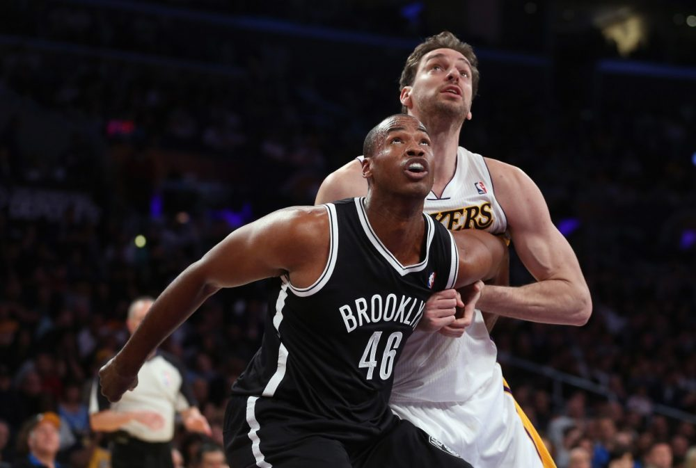 Jason Collins became the first openly gay player to play in the NBA for the Nets. (Jeff Gross/Getty Images)