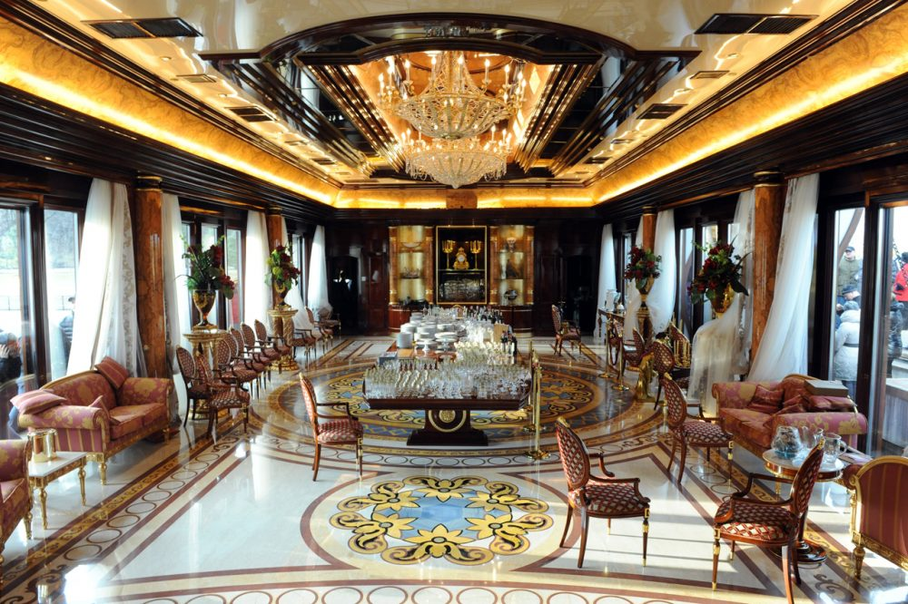 A view of the interior of the private residence of ousted Ukrainian President Viktor Yanukovych, near Kiev on February 24, 2014. (Yuriy Dyachyshyn/AFP/Getty Images)