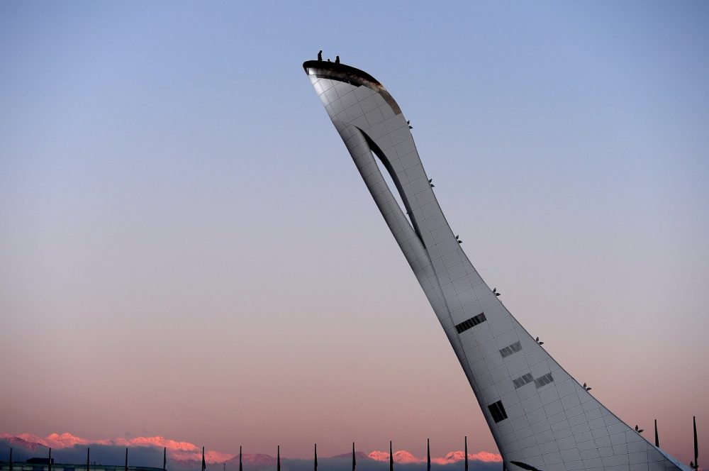 Finishing touches are put on the Olympic Cauldron, but some have found Sochi is still not prepared for the games. (Pascal Le Segretain/Getty Images)