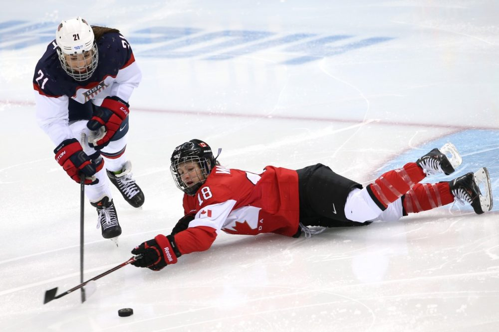 Hilary Knight is hoping to lead the U.S. to victory against the Canadians. (Bruce Bennett/Getty Images)