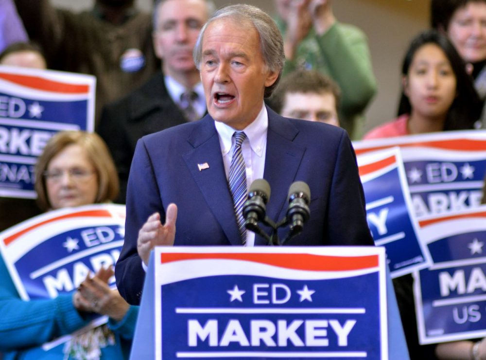 Rep. Ed Markey, D-Mass., speaks to supporters during the kickoff event of his campaign for Senate in Malden, Mass. in 2013. (Josh Reynolds/AP)