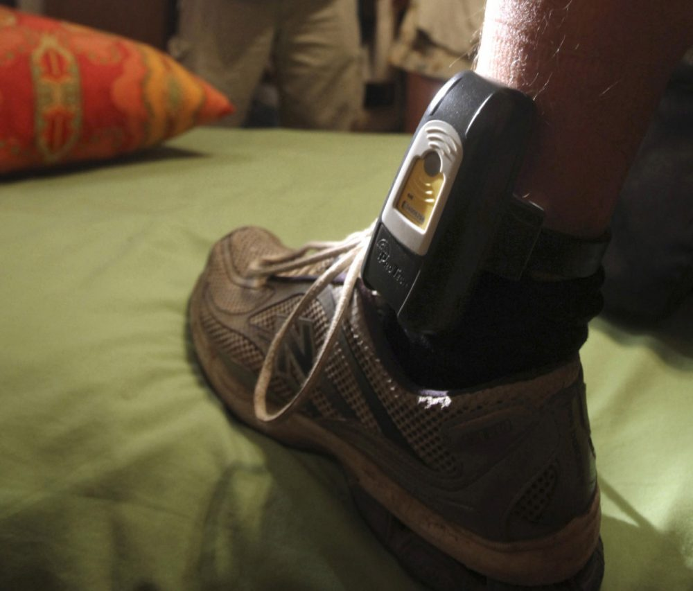 Electronic ankle bracelets used to track an offender's whereabouts have proliferated in the three decades since they were introduced as a crime-fighting tool. (AP/Rich Pedroncelli)