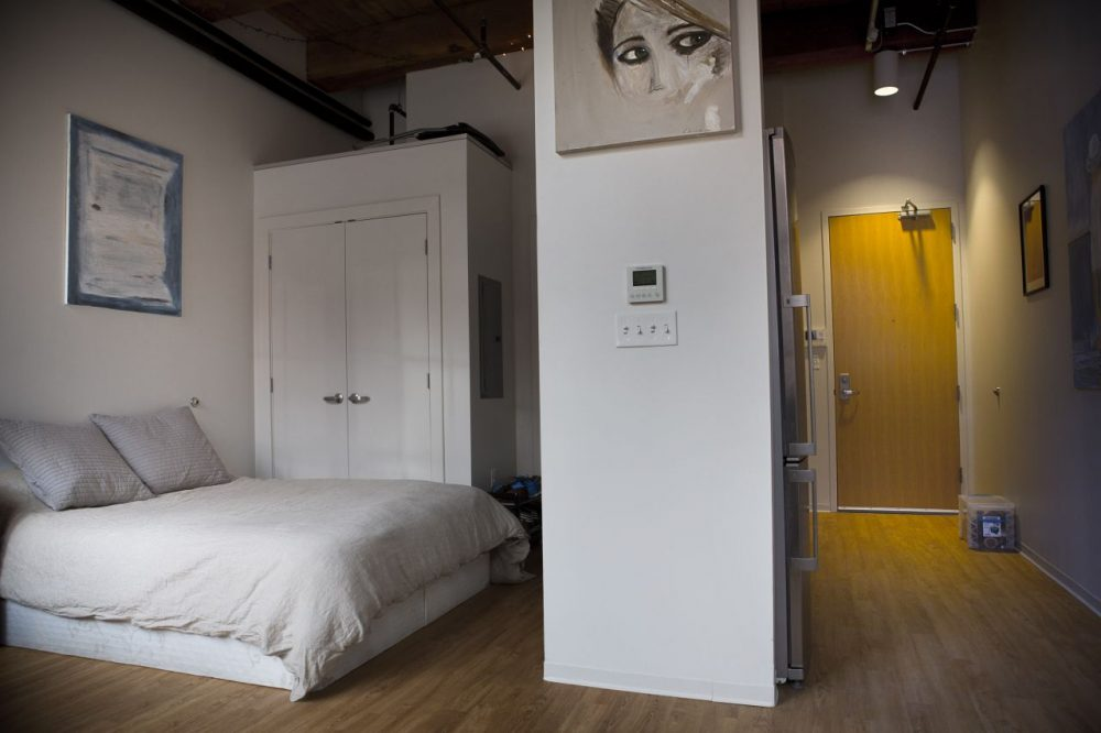 Some economists think the creation of more micro-apartments could solve the city's housing crunch, but Boston is moving forward cautiously. (Jesse Costa/WBUR)