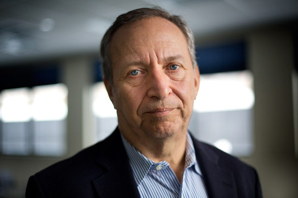 Larry Summers in the WBUR studios. (Jesse Costa / WBUR)