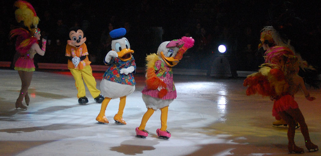 "Mickey, Donald and Daisy in ""Disney On Ice: Let's Celebrate!"" (Greg Cook)"