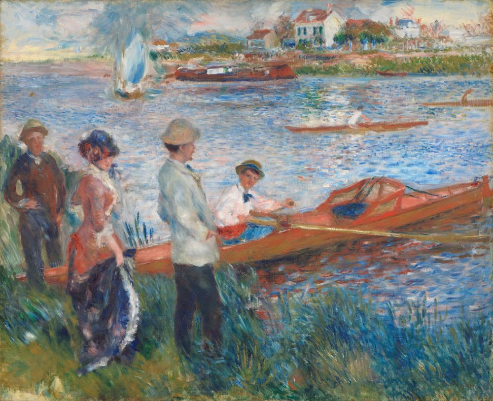 "Pierre-Auguste Renoir, ""Oarsmen at Chatou."" (From ""Impressionists on the Water"" at the Peabody Essex Museum)"