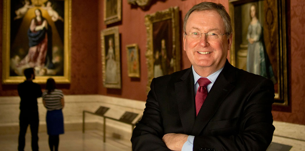 Museum of Fine Arts Director Malcolm Rogers in the institution's William I. Koch Gallery. (Museum of Fine Arts)
