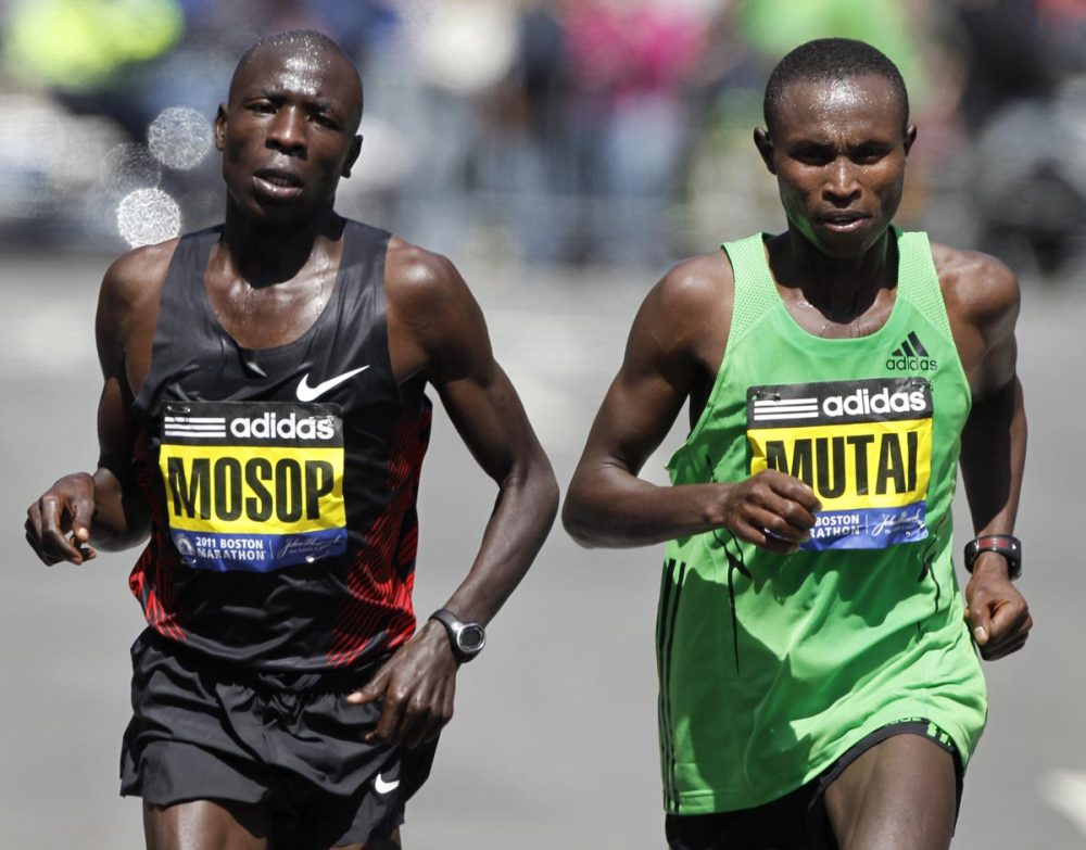 """""""Boston has a special place in my heart and deserves my best,"""" Moses Mosop, of Kenya, said in a statement Monday announcing he would not run in the 2014 Boston Marathon due to a knee injury. Pictured above, Mosop finished second in the 2011 race. (Steven Senne/AP)"""