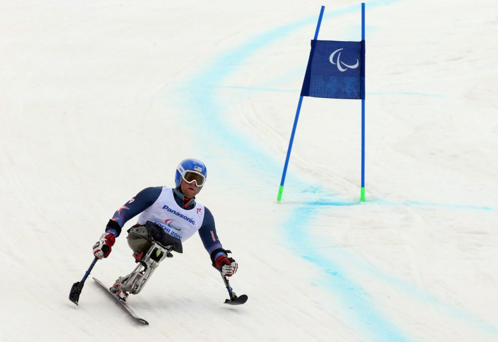 Paralympians go down the same courses the Olympians. (Ronald Martinez/Getty Images)