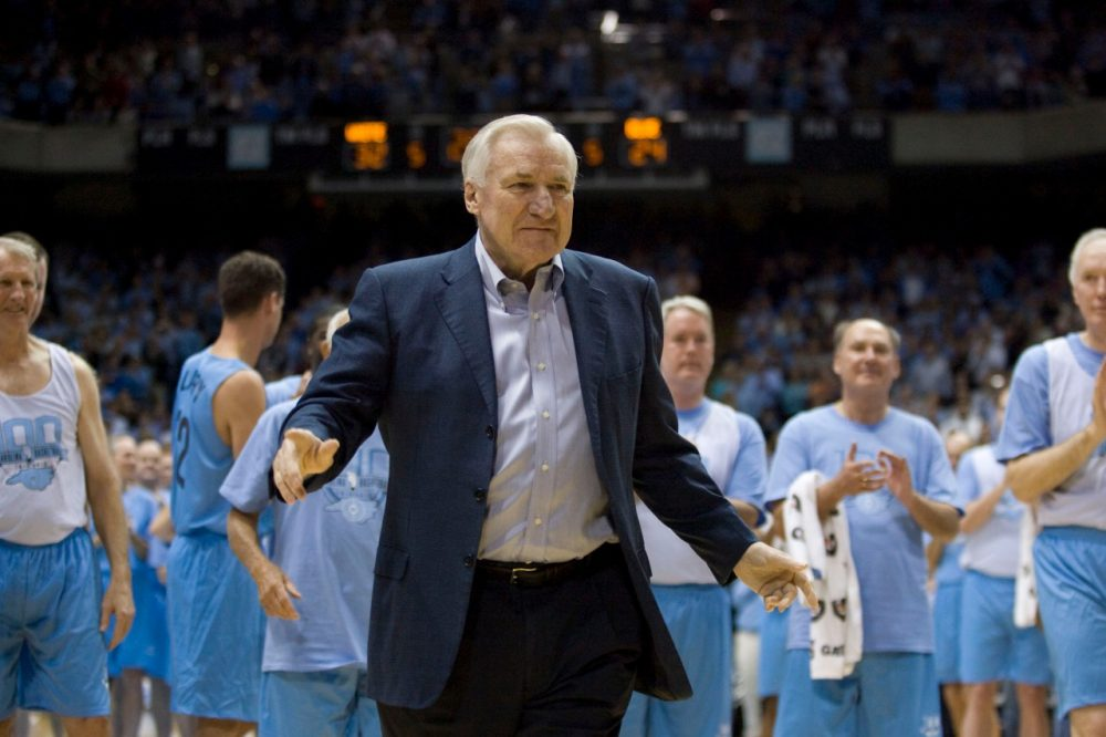 Dean Smith coached for decades at UNC. (Robert Willett/AP)