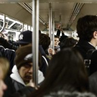 Commuters on the New York City subway. A study finds that Americans are use of public transportation is at a record high not seen since the 1950s. (Tasayu Tasnaphun/Flickr)