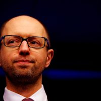 Ukraine Prime Minister Arseniy Yatseniuk speaks to the media during a meeting to discuss the situation in Ukraine at the European Union Council Building on March 6, 2014 in Brussels, Belgium. (Dean Mouhtaropoulos/Getty Images)