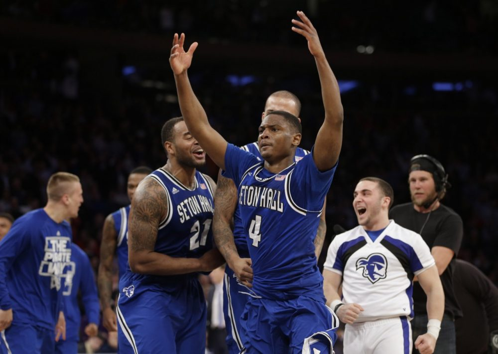 Seton Hall was one of Charlies favorite upsets. They're headed to the Big Dance after knocking off Villanova. (Seth Wenig/AP)