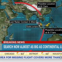 A screenshot of CNN's coverage of the missing plane on Mar. 18, 2014. (CNN.com)