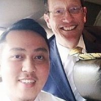 Fariq Abdul Hamid, left, and Richard Quest are pictured in a photo on Instagram. (Instagram)