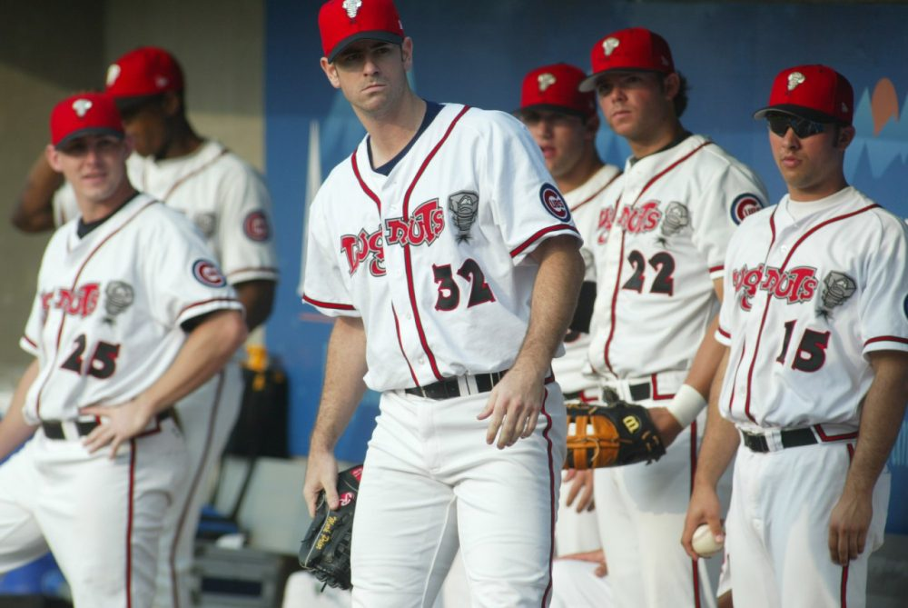 The only time Lansing sees Major Leaguers like former Cubs' pitcher Mark Prior is when they're on rebab assignment. (Al Goldis/AP)