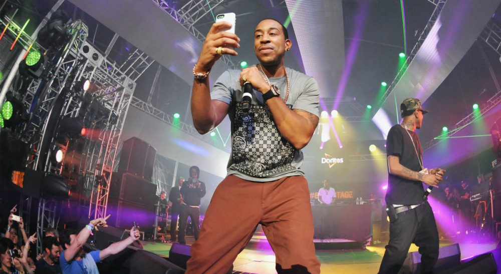 Hip hop artist Ludacris headlines at the Doritos #BoldStage at the South by Southwest Music Festival on Saturday, March 15, 2014, in Austin, Texas. For the first time since its debut at South by Southwest in 2012, fans experienced performances from inside a larger-than-life vending machine turned concert stage. (Darren Abate/AP)
