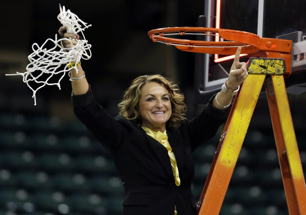 Wichita State coach Jody Adams has led the Shockers to two straight NCAA tournament berths. (Jeff Roberson/AP)