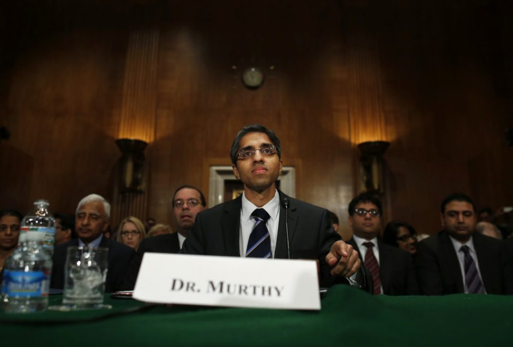 Dr. Vivek Hallegere Murthy, President Barack Obama's nominee to be the next U.S. Surgeon General, prepares to testify on Capitol Hill in Washington, Tuesday, Feb. 4. (Charles Dharapak/AP)