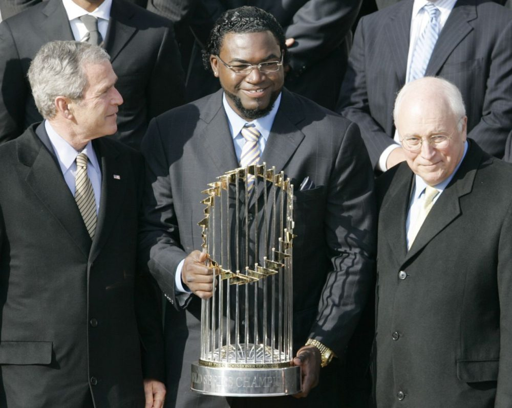 David Ortiz visited the White House in 2008 after the Red Sox won the World Series in 2007. He will be back on April 1 when President Obama honors the Red Sox. (Haraz N. Ghanbari/AP)