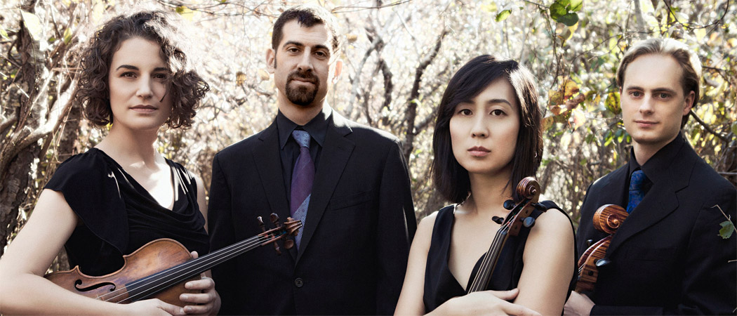 From left to right, Rebecca Fischer, Jonah Sirota, Hyeyung Julie Yoon and Gregory Beaver of the Chiara String Quartet. (Lisa-Marie Mazzucco)
