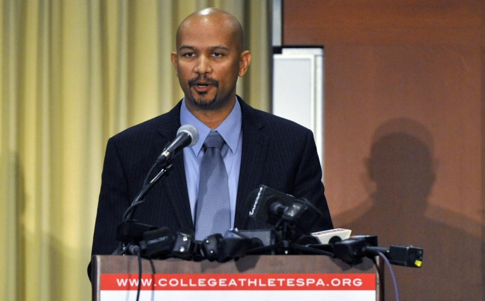 College Athletes Players Association President Ramogi Huma says he's not surprised  by the regional director's decision. (David Banks/Getty Images)