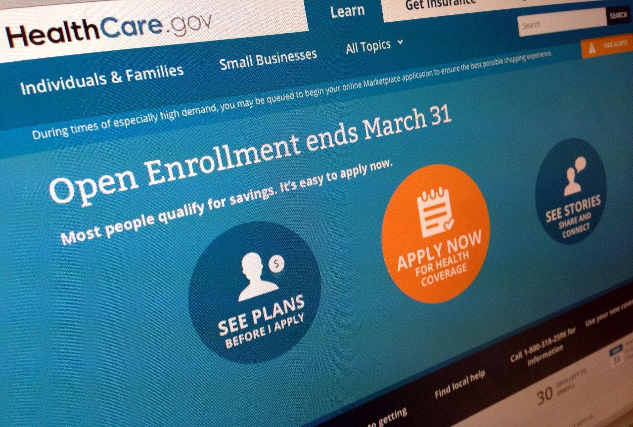 Part of the website for HealthCare.gov as photographed in Washington. (Jon Elswick/AP)