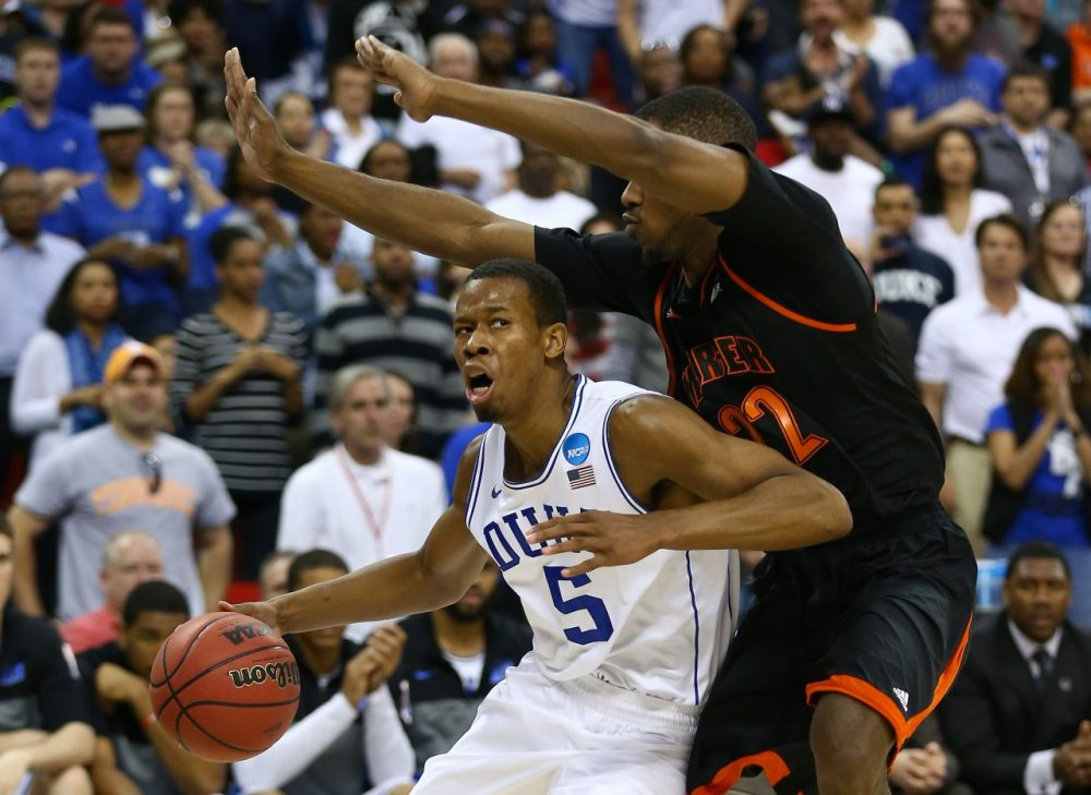For Duke, the #3 seed has been unlucky. This time they lost to #14 Mercer. (Streeter Lecka/Getty Images)