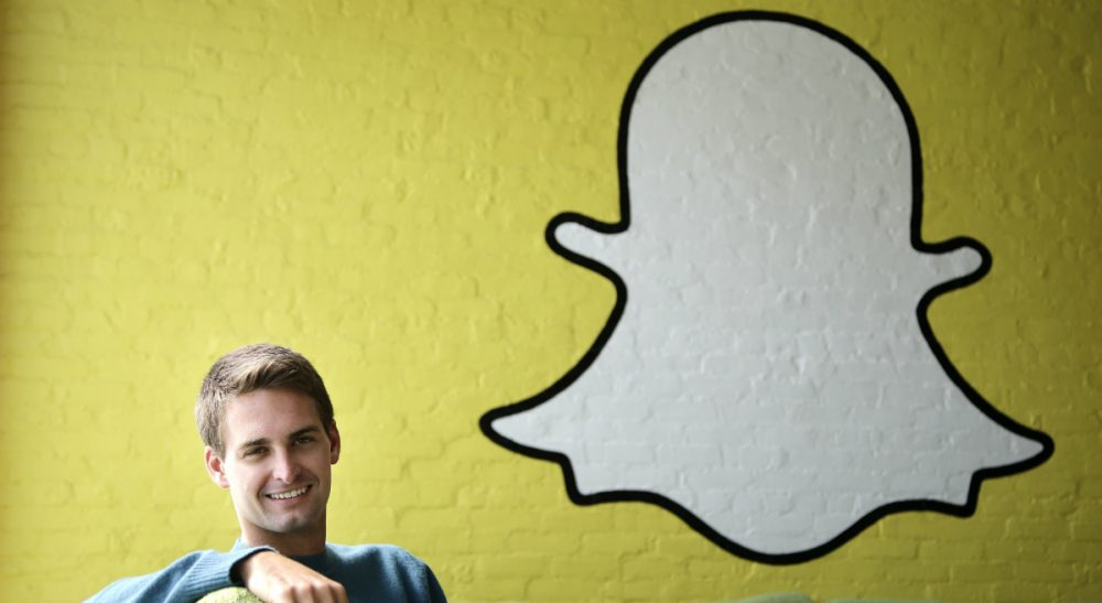 Snapchat CEO Evan Spiegel is pictured on Thursday, Oct. 24, 2013 in Los Angeles. Spiegel dropped out of Stanford  in 2012, three classes shy of graduation, to move back to his father's house and work on Snapchat. The fast-growing mobile app lets users send photos, videos and messages that disappear a few seconds after they are received. (AP)