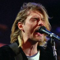 This Dec. 13, 1993 file photo shows Kurt Cobain of Nirvana performing in Seattle, Wash. (Robert Sorbo/AP)