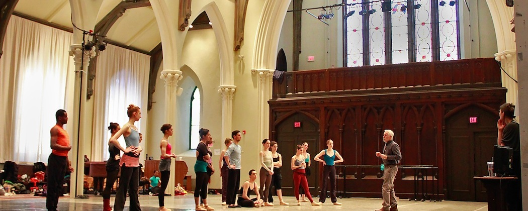"""José Mateo goes over his choreography for """"Isle of the Dead"""" with members of his Ballet Theatre. (Lawrence Elizabeth Knox)"""