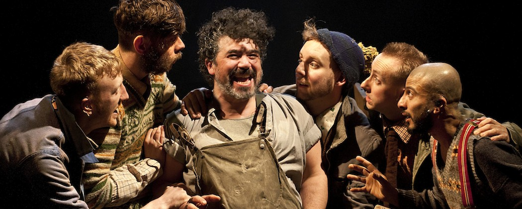 "Miltos Yerolemou is the center of attention in ""A Midsummer Night's Dream"" at the Cutler Majestic Theatre through March 15. (Simon Annand)"