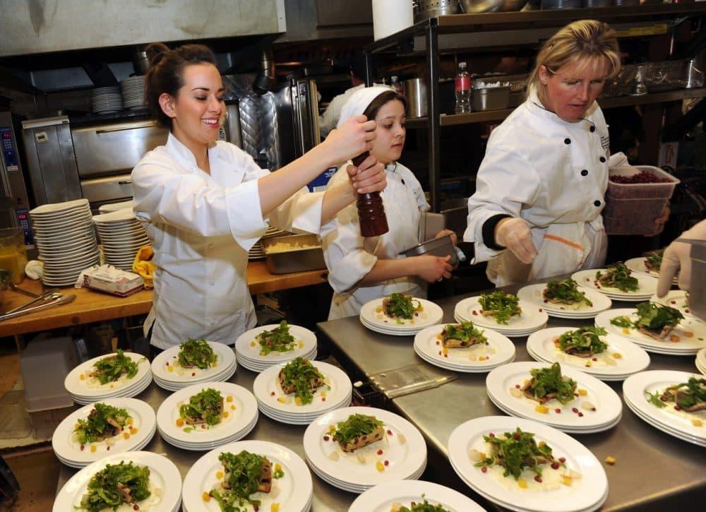 Chef Whitney Miller at Chef Dance during the 2013 Sundance Film Festival. (Evan Agostini/AP)