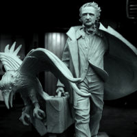 """A sculpture of Edgar Allan Poe, the horror master who conjured creepy classics such as """"The Tell Tale Heart"""" and """"The Raven."""" It will be unveiled on Oct. 4. at at the intersection of Charles and Boylston Streets. (Courtesy Stefanie Rocknak)"""