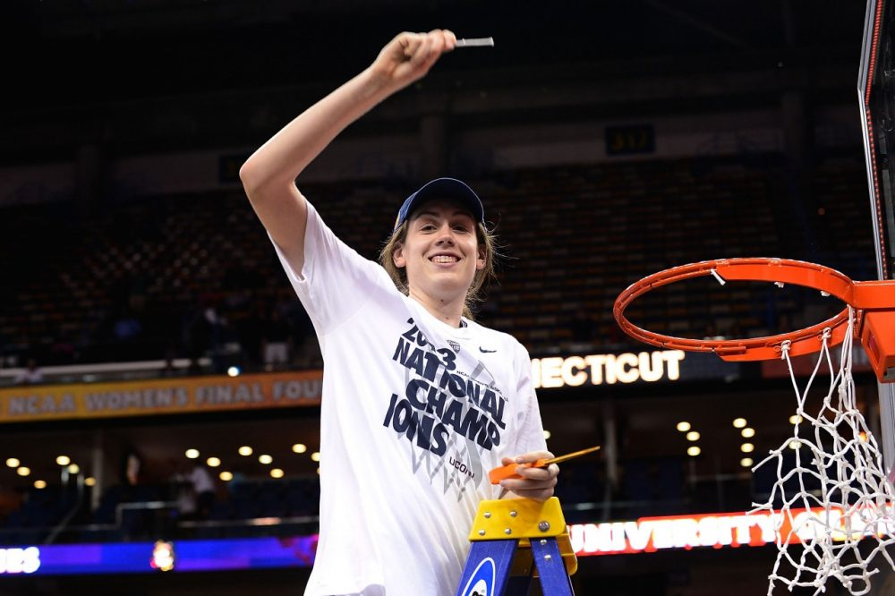 Will UConn's Breanna Stewart be able to help her team cut down the nets again this year? (Stacy Revere/Getty Images)