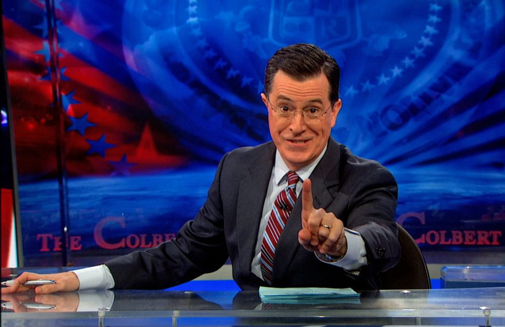 """Stephen Colbert will leave his faux-conservative character behind when he succeeds David Letterman as host of the """"Late Show"""" on CBS. (Comedy Central)"""