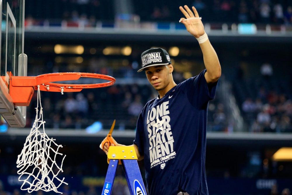 UConn's Shabazz Napier can celebrate his national championship and the potential that the NCAA will provide unlimited meals to student-athletes. (Jamie Squire/Getty Images)