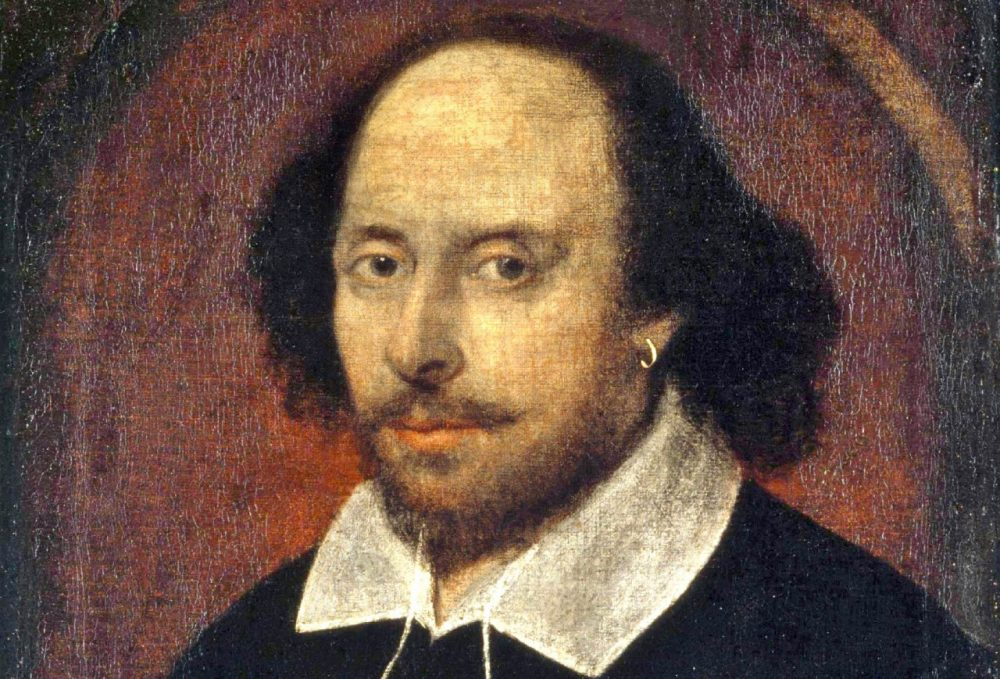William Shakespeare's birth date is unknown, but he was baptized on April 23, 1564, and died on April 26, 1616. Devotees celebrate his birthday on April 23. (Wikimedia Commons)