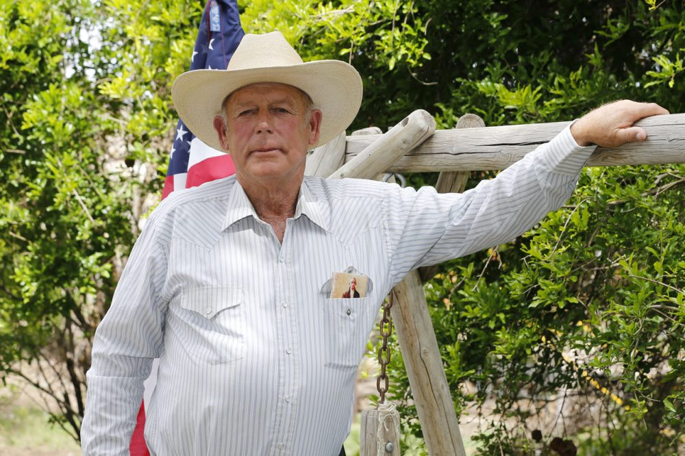 Rancher Cliven Bundy poses for a picture outside his ranch house on April 11, 2014, west of Mesquite, Nevada. (George Frey/Getty Images)