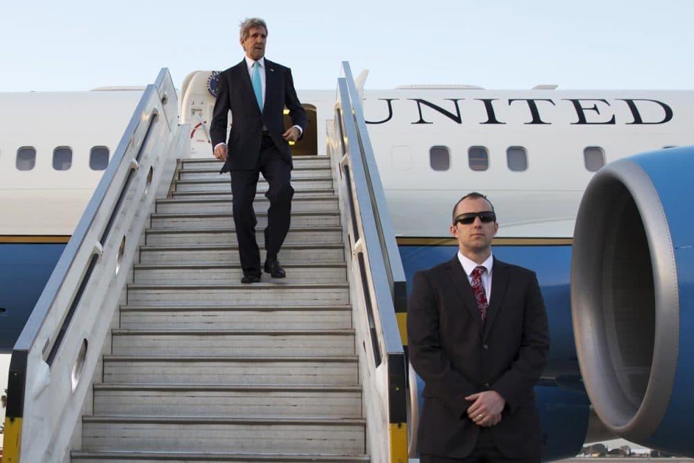 Secretary of State John Kerry arrives in Israel last month. (Jacquelyn Martin/AP/Pool)